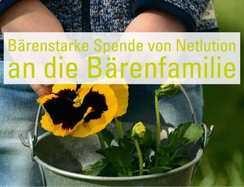 n_unterstützt: Sachspenden von Netlution an die Bärenfamilie